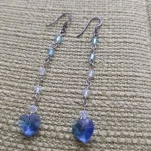 Handmade earrings- Sterling silver and crystals